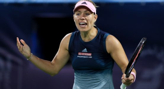 Angelique Kerber frustrated
