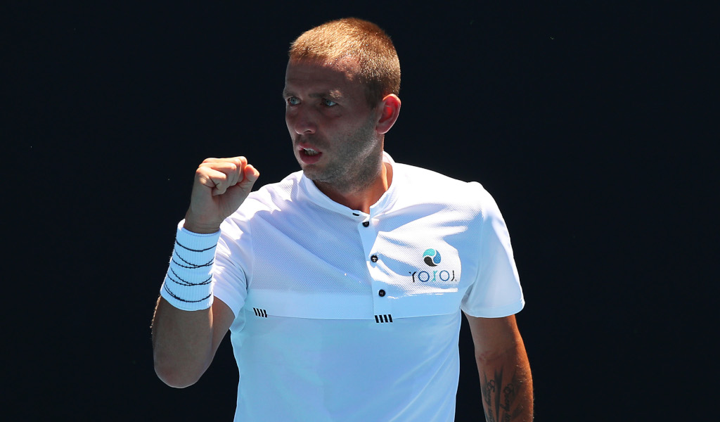 Dan Evans fist pump