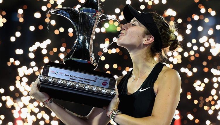 Belinda Bencic with Dubai Title