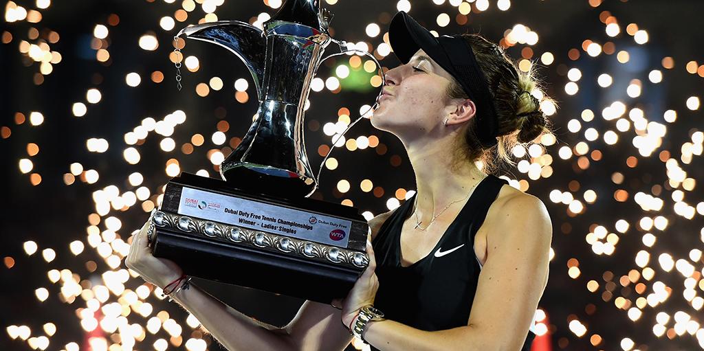 Belinda Bencic with Dubai Title