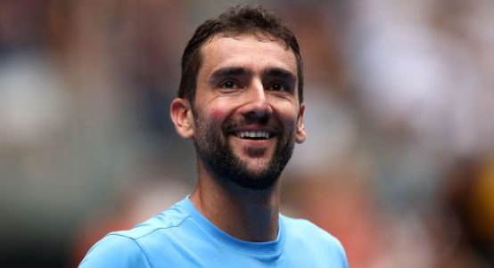 A smiling Marin Cilic