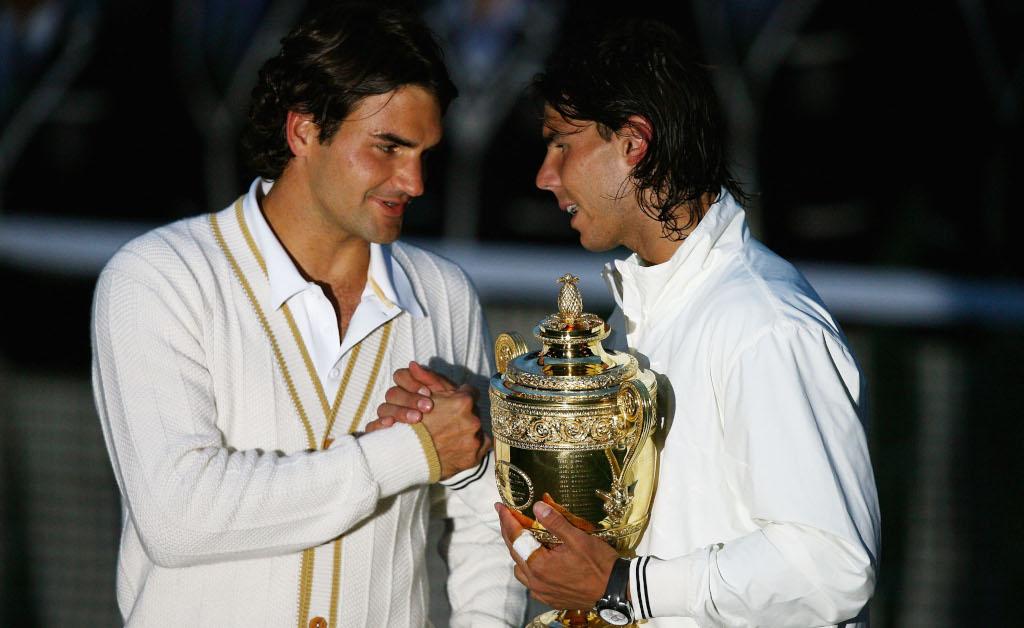Roger Federer and Rafael Nadal 2008 Wimbledon