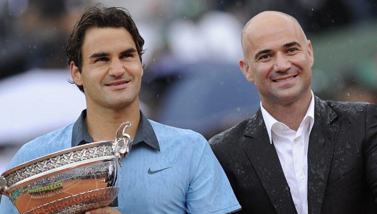 Andre Agassi and Roger Federer