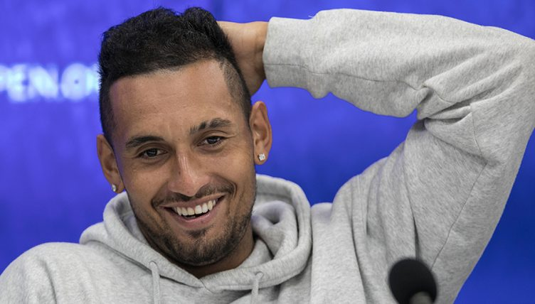 Nick Kyrgios smiling