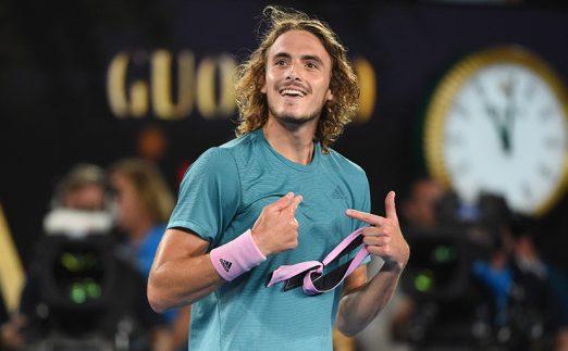 Stefanos Tsitsipas - tipped to beat Roger Federer in Basel