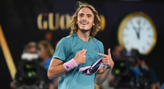 Stefanos Tsitsipas - tipped to beat Roger Federer in Basel