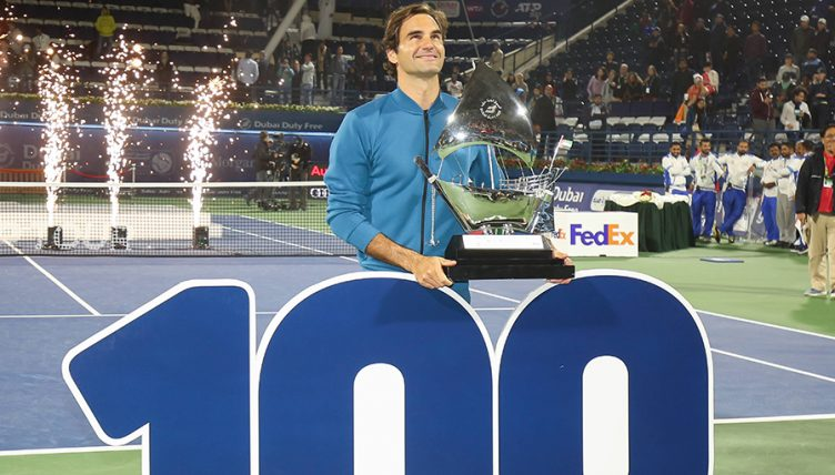 Roger Federer title 100