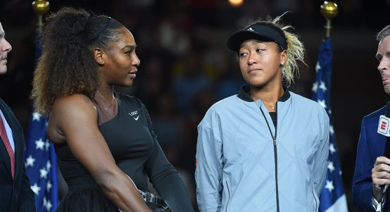 Serena Williams and Naomi Osaka PA
