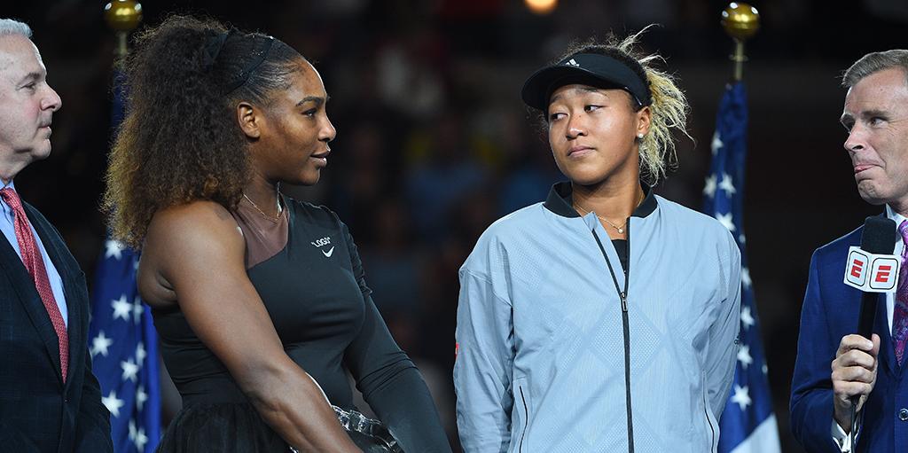 Serena Williams and Naomi Osaka PA