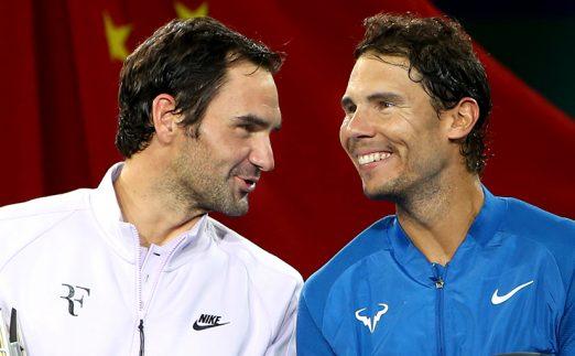 Roger Federer and Rafael Nadal PA