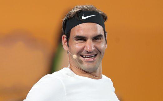 Roger Federer laughing