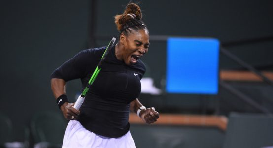Serena Williams pumped up
