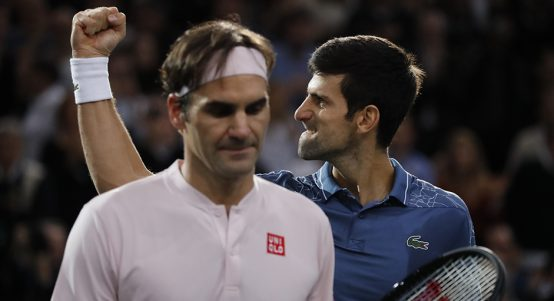 Roger Federer and Novak Djokovic