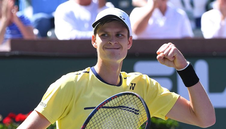 Hubert Hurkacz after beating Kei Nishikori at Indian Wells