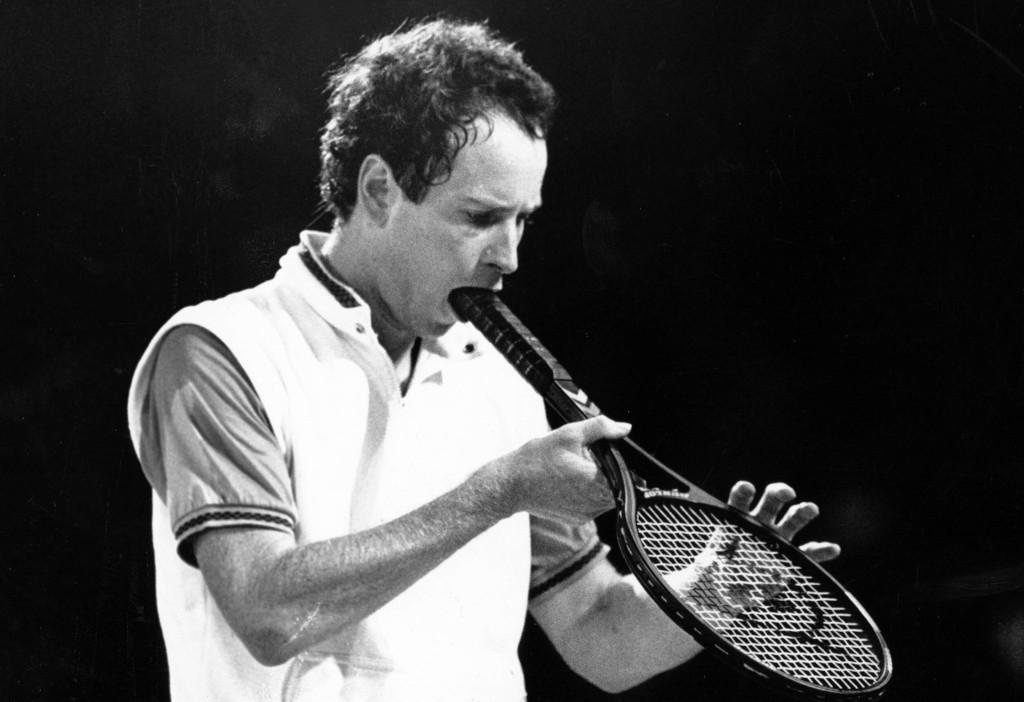 John McEnroe racket abuse