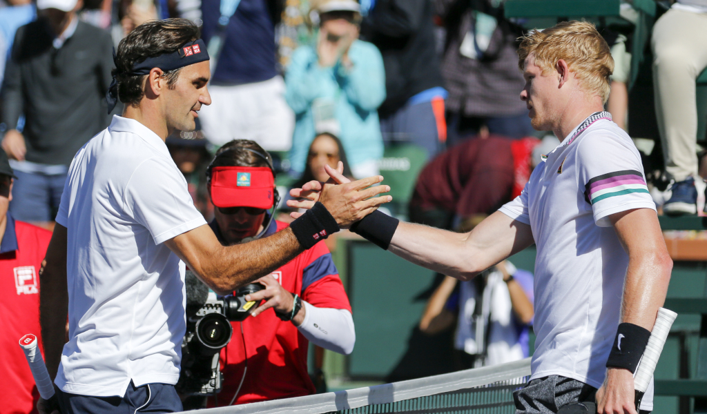 Roger Federer and Kyle Edmund