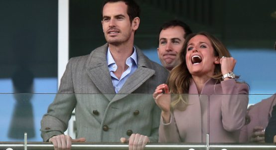 Andy Murray and Kim Murray at Cheltenham Festival