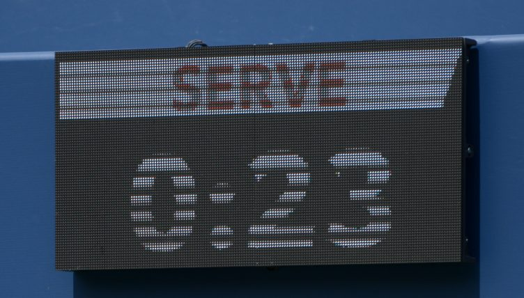 Tennis shot clock