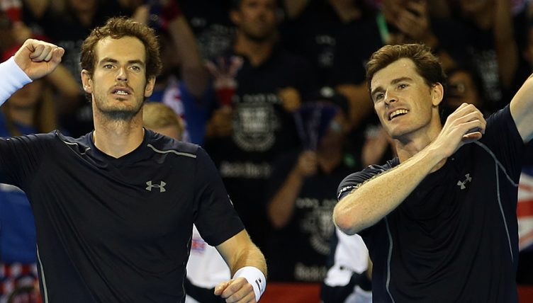 Andy Murray and Jamie Murray PA