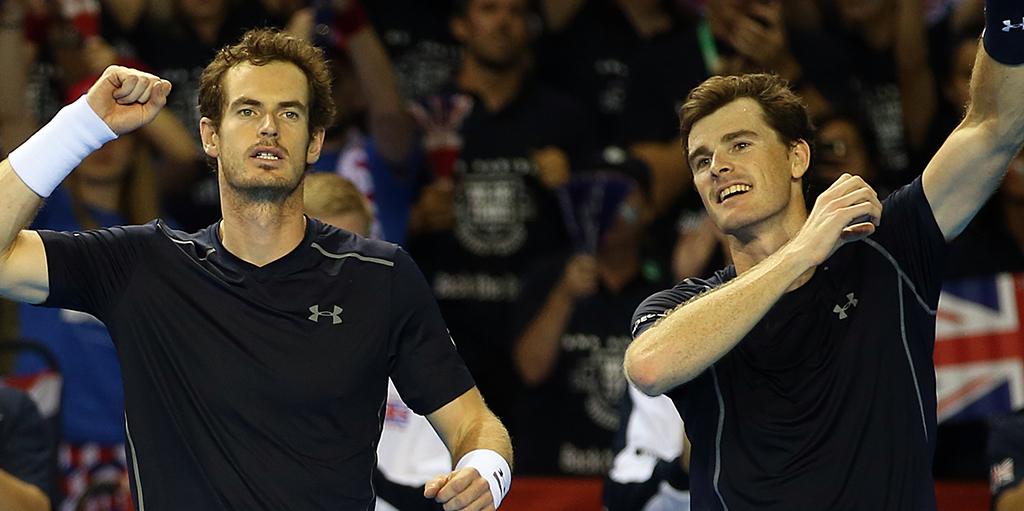 Andy Murray and Jamie Murray PA