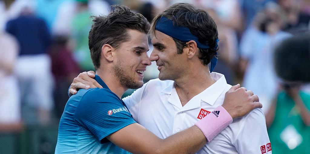 Dominic Thiem after leapfrogging Roger Federer in ATP rankings