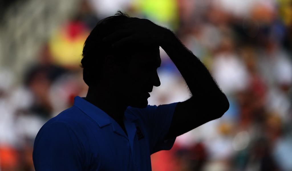 Roger Federer shadow