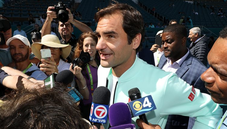 Roger Federer interviewed