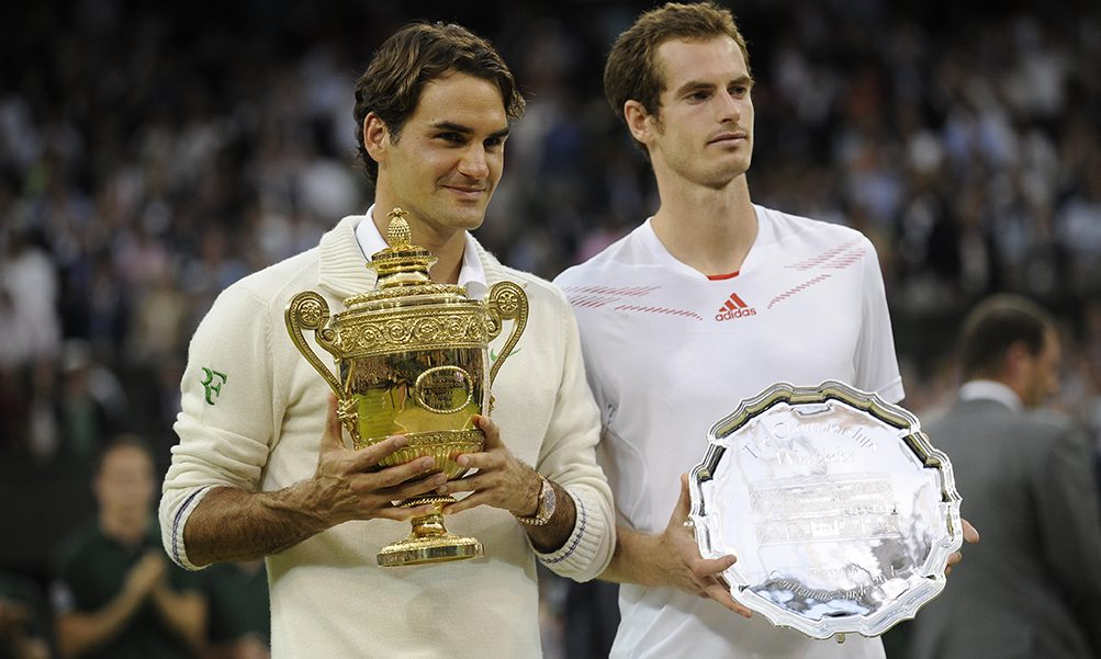 Roger Federer and Andy Murray Wimbledon PA