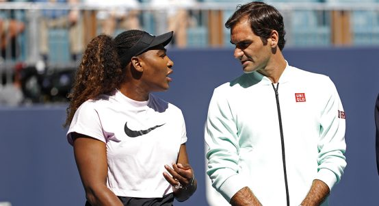 Serena Williams and Roger Federer PA