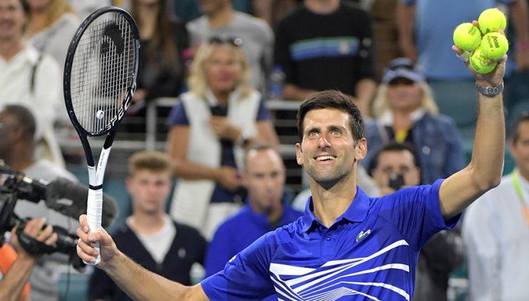 Novak Djokovic at Miami Open PA