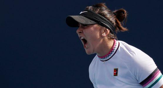 Bianca Andreescu screaming