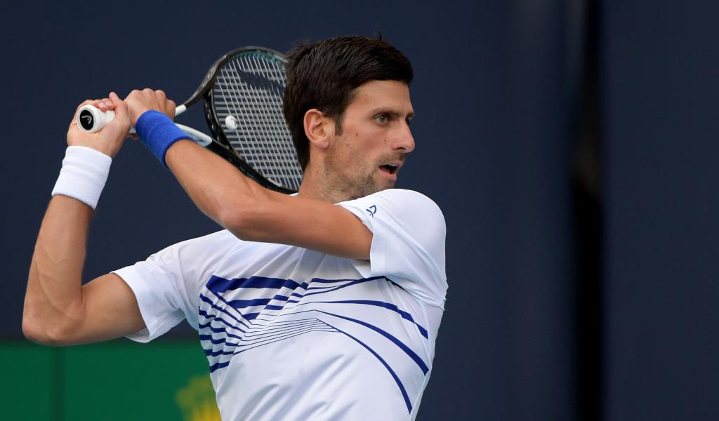 Novak Djokovic double-handed backhand