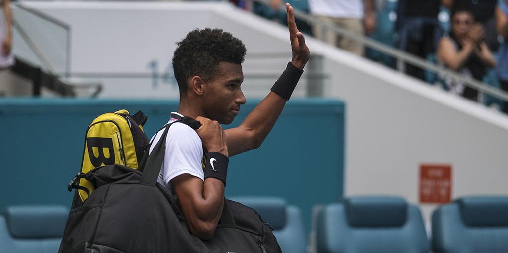 Felix Auger-Aliassime waves goodbye to Miami Open PA