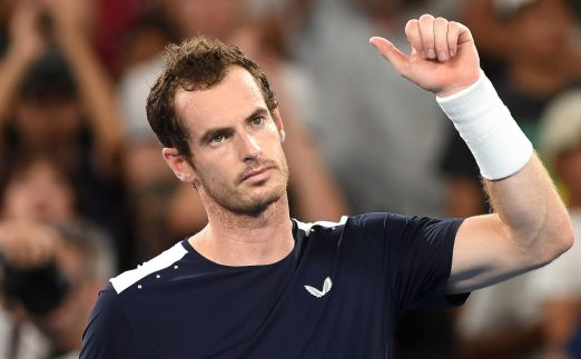 Andy Murray thumbs up