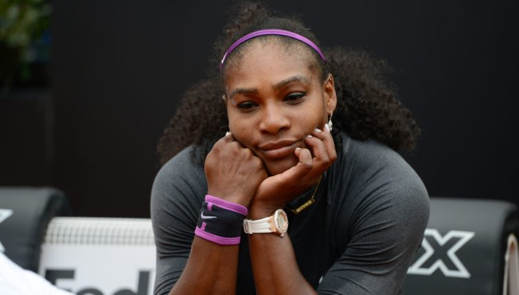 Serena Williams deep in thought