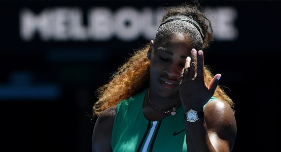 Serena Williams facepalm PA