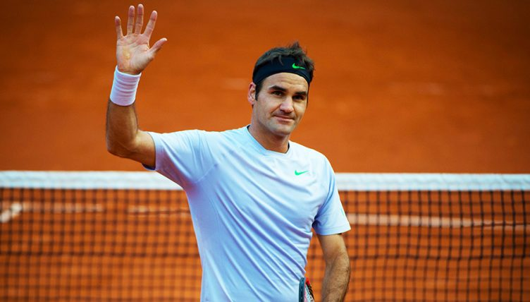 Roger Federer on clay PA
