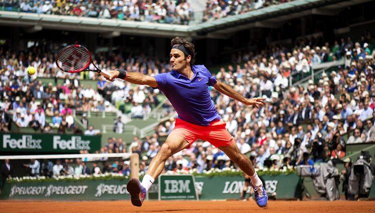 Roger Federer at Roland Garros PA
