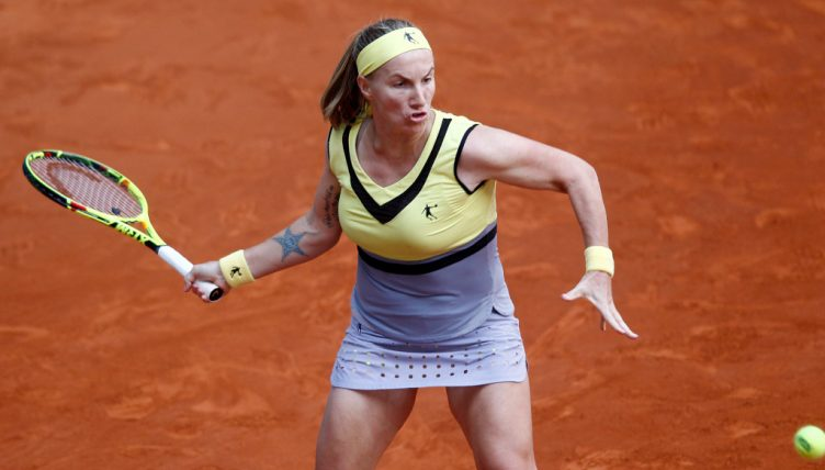 Svetlana Kuznetsova in action