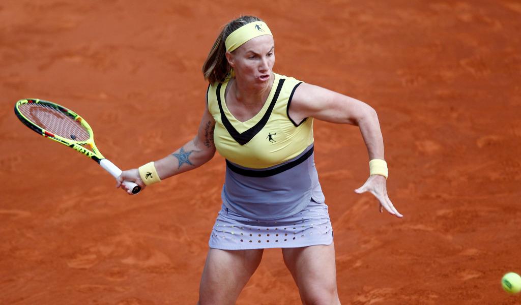 Svetlana Kuznetsova in action