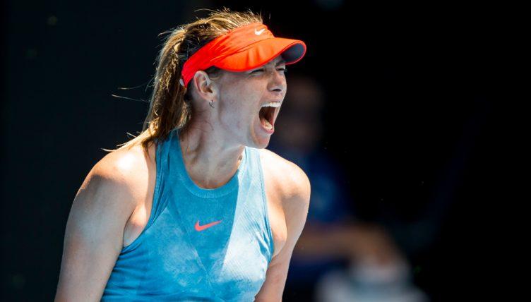 Maria Sharapova shouting