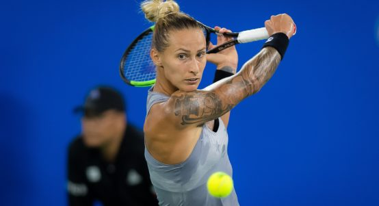 Polona Hercog in action