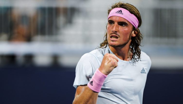 Stefanos Tsitsipas pumped up