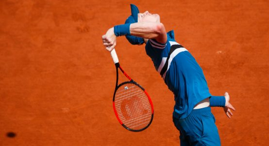 Kyle Edmund on clay