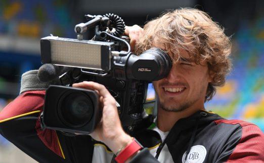 Alexander Zverev playing cameraman