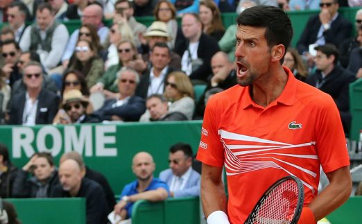 Novak Djokovic winning in Monte Carlo PA