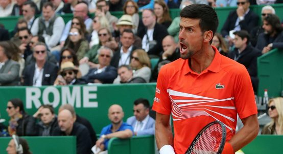 Novak Djokovic winning in Monte Carlo PA