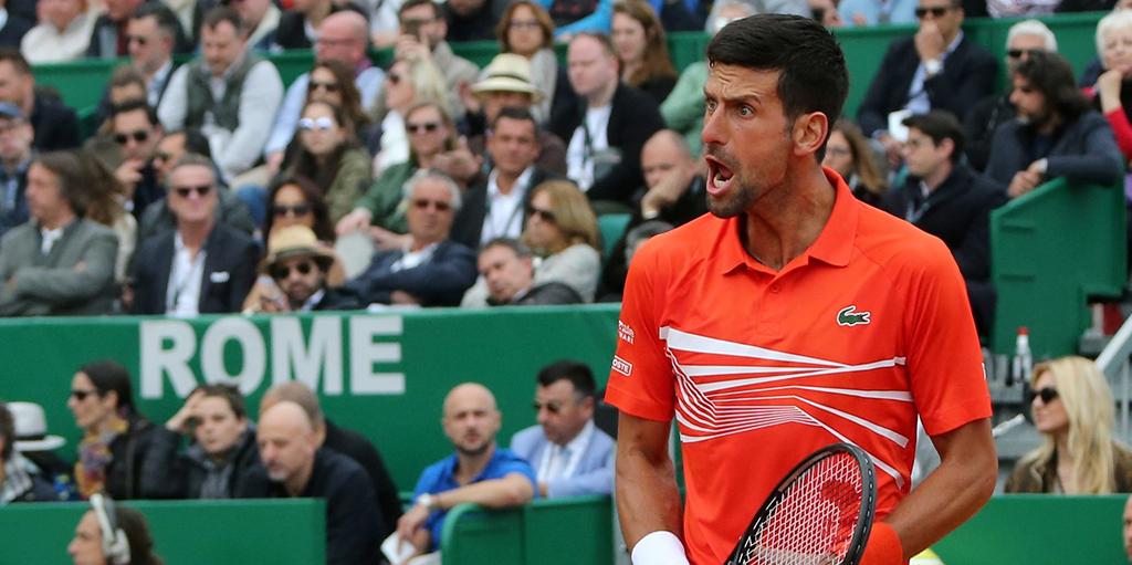 Novak Djokovic winning