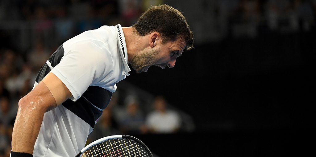 Grigor Dimitrov reacts PA