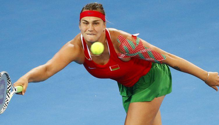 Aryna Sabalenka at Fed Cup PA